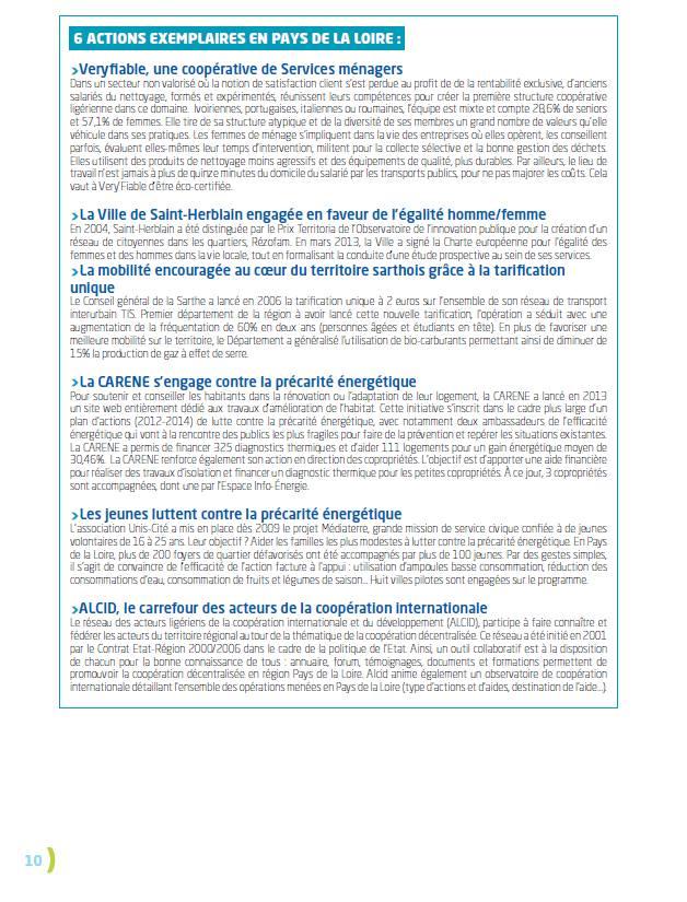 acteur exemplaire charte développement durable région Pays de la Loire